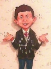 Image of Wall Clock on Alfred E.Neuman wooden figure