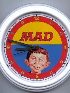 Go to Wall Clockwith Alfred E.Neuman face • USA