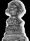 Image of Clock with Alfred E. Neuman Bust on top