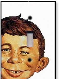 Go to Switch Plate with Alfred E. Neuman Head • USA