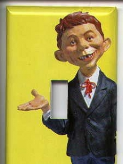 Go to Switch Plate with Alfred E. Neuman figure picture • USA