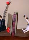 Image of Bookends 'Spy vs Spy' Handpainted