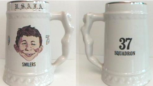 Beer Stein from 1975 U.S. Air Force Academy with Alfred E. Neuman face • USA