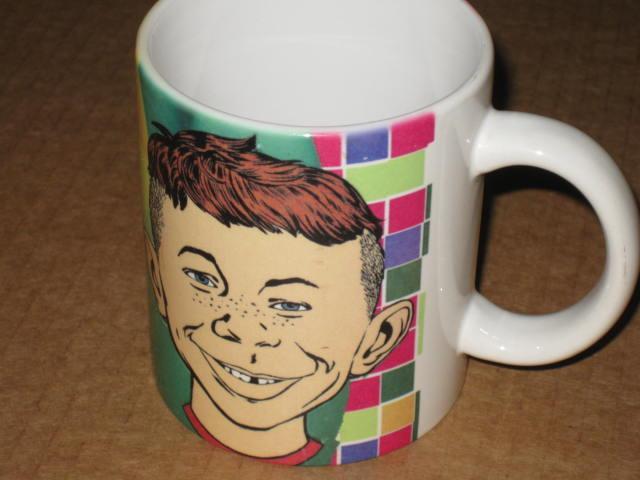 Alfred E. Neuman Coffee Mug 1996 XPRES • USA