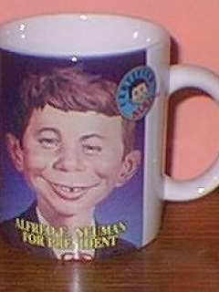 Go to Coffee Mug 'Alfred E. Neuman for President' (Certified MAD) • USA