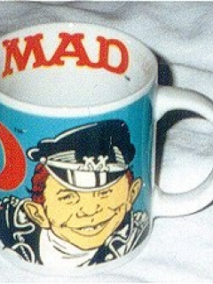 Coffee Mug with Alfred E. Neuman as biker • Australia