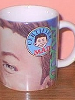 Go to Coffee Mug with Alfred E. Neuman Closeup (Certified MAD) • USA