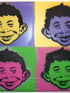Mad Magazine Stencil Graffiti Canvas