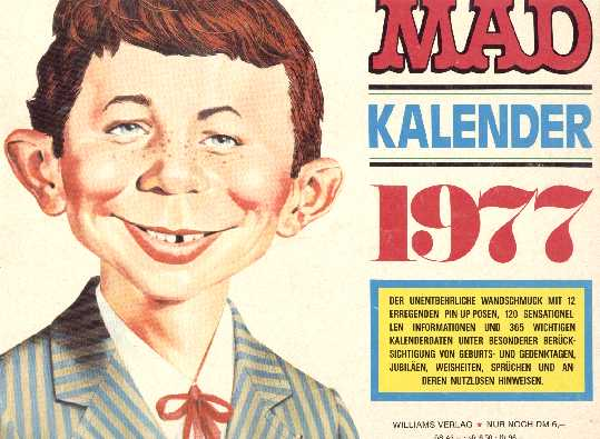 1977 Calendar MAD Magazine • Germany