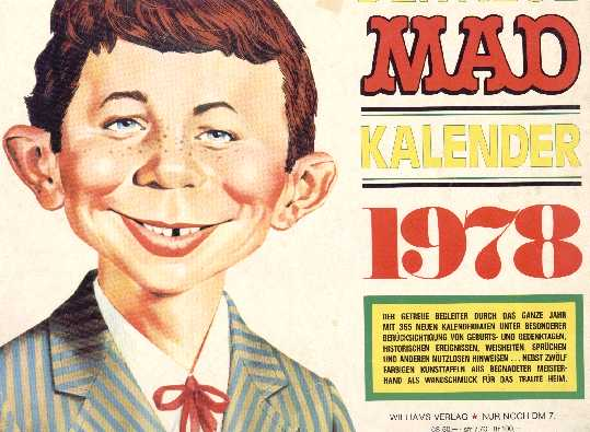 1978 Calendar MAD Magazine • Germany
