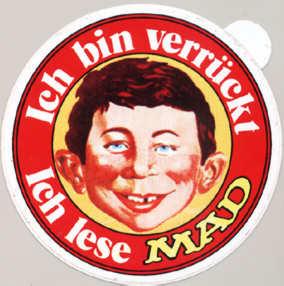 Sticker: 'Ich bin verrückt - Ich lese MAD' red version • Germany