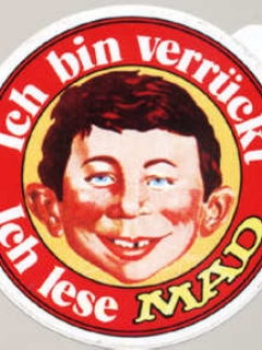Sticker: 'Ich bin verrückt - Ich lese MAD' red version • Germany