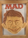 Image of Wood portrait of Alfred E. Neuman