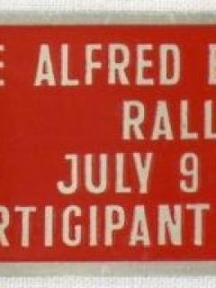 Go to MG Rally Badge 1960 Berkeley Monkey Alfred E. Neuman • USA