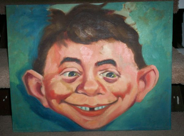 Painting of Alfred E. Neuman from 1960 • USA