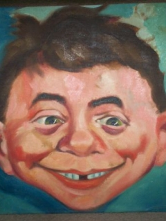 Go to Painting of Alfred E. Neuman from 1960 • USA