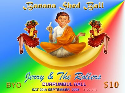 Banana Shed Ball Party Flyer • Australia