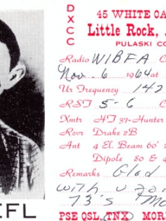 Go to QSL Alfred E Neuman Little Rock AR card • USA