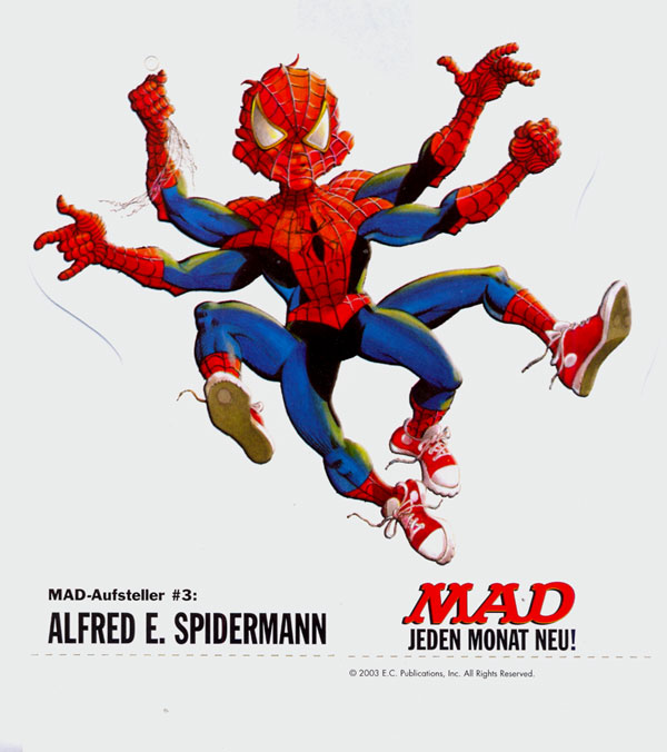 Cardboard Standup Small #3: Alfred E. Spiderman • Germany