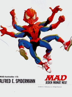 Go to Cardboard Standup Small #3: Alfred E. Spiderman • Germany