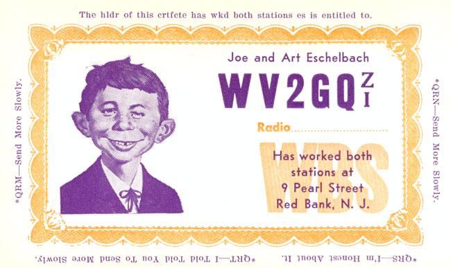 Picture of Alferd E. Neuman Radio Station Certificate • USA