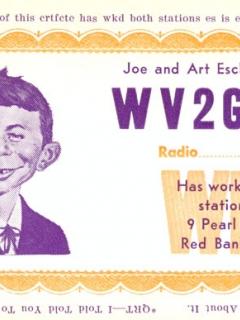 Go to Picture of Alferd E. Neuman Radio Station Certificate