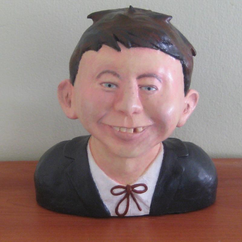 Alfred E. Neuman hollow-cast polyurethane bust • Australia