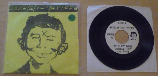 Record 45 RPM Jake & the Stiffs (yellow version) • USA