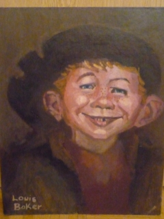 Go to Alfred E. Neuman as Rembrandt Original Art  • USA