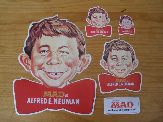 Stickers Alfred E. Neuman Swedish Promotional • Sweden