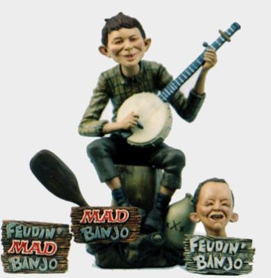 Model Kit Alfred E. Neuman/Feudin Banjo Boy Resin • USA
