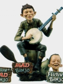 Go to Model Kit Alfred E. Neuman/Feudin Banjo Boy Resin • USA