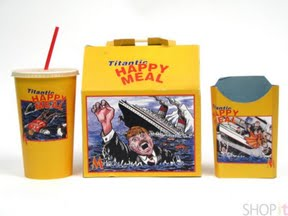 'MAD TV' Show - 'Titanic Happy Meal' used for a prop in a sketch • USA