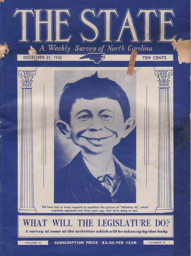The State Magazine #31 with Pre MAD Alfred on cover • USA