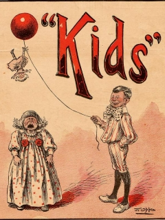 Go to Puck's Library: Kids (first known Alfred E. Neuman cover appearance) • USA