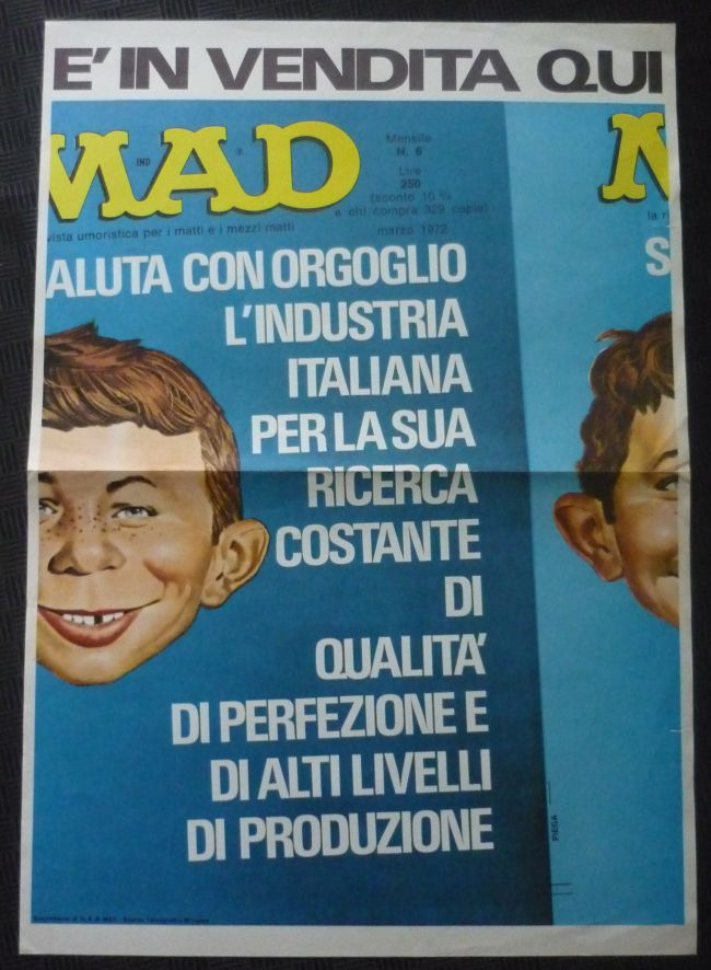 Poster Promotional for Italy MAD #6 First Series • Italy
