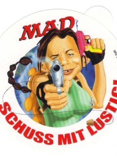 Sticker 'Schluss mit lustig' • Germany