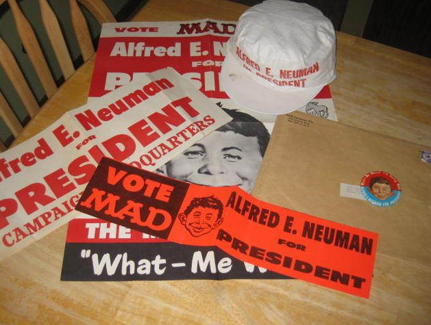 Campaign Kit 1960 'Alfred E Neuman For President' • USA
