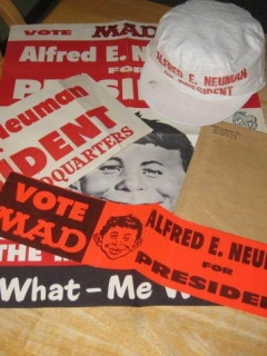 Go to Campaign Kit 1960 'Alfred E Neuman For President' • USA