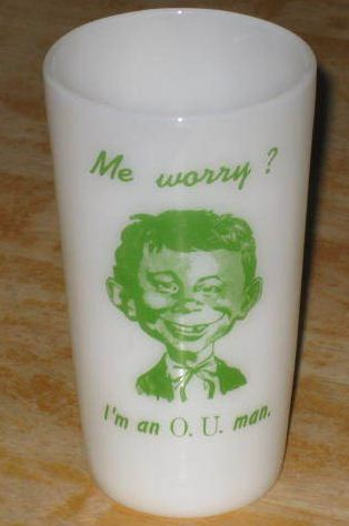 Drinking Glass Pre-MAD Alfred E. Neuman Ohio University O.U. • USA