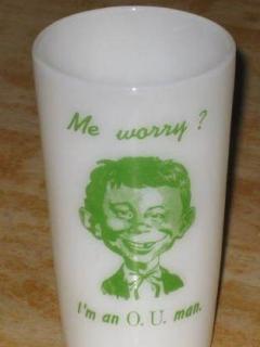 Go to Drinking Glass Pre-MAD Alfred E. Neuman Ohio University O.U. • USA