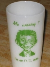 Image of Drinking Glass Pre-MAD Alfred E. Neuman Ohio University O.U.