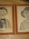 Image of Set Of 2 Framed Alfred E Neuman Pictures