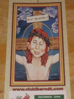 Go to 2009 Calendar Alfred E. Neuman as Jesus Christ • USA