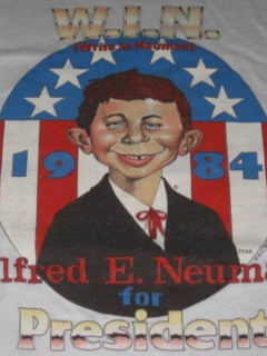 Go to T-Shirt 'Alfred E. Neuman For President' 1984 Red