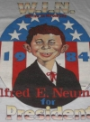 Image of T-Shirt 'Alfred E. Neuman For President' 1984 Red
