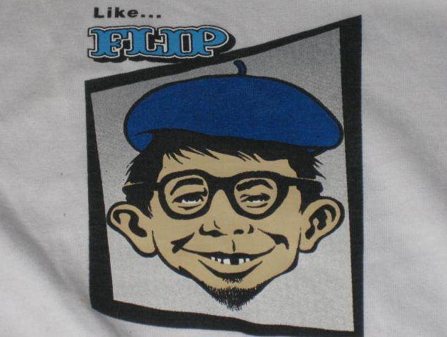 T-Shirt Alfred E Neuman FLIP Skateboards Promotional • USA