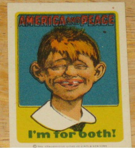 Decal Pre-MAD Alfred E. Neuman America For Peace • USA