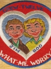 Image of Patch 1960's Vietnam Era Alfred E. Neuman Patch Moxie Cowsnofski