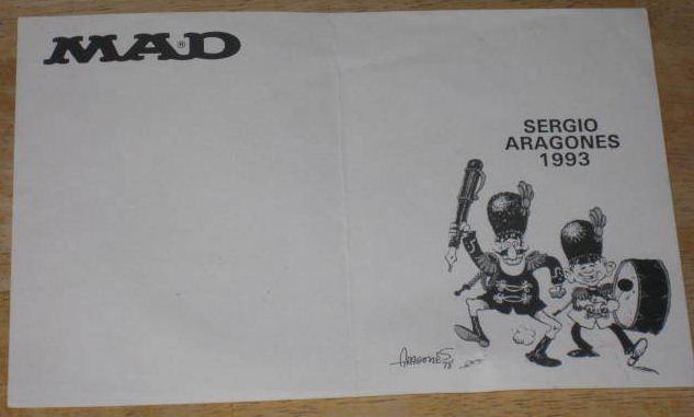 Autographed Sheet Sergio Aragonés • USA